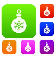 ball for the christmas tree set collection vector image