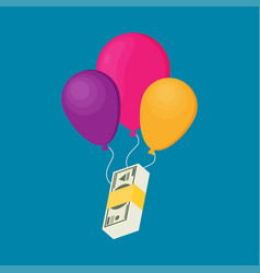 Balloon money business vector