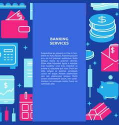 Banking services poster in flat style with text vector