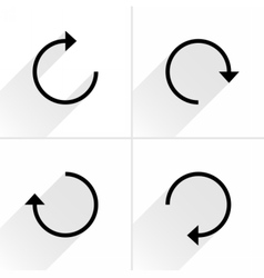Black arrow sign reset repeat reload icon vector