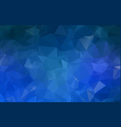 blue geometric rumpled triangular low poly vector image