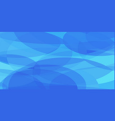 blue ovals abstract background vector image