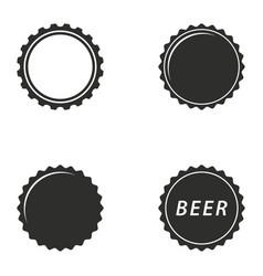 bottle cap icon set vector image