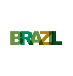 brazil phrase overlap color no transparency vector image