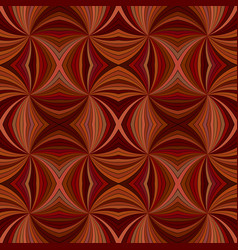 brown seamless hypnotic abstract swirling ray vector image