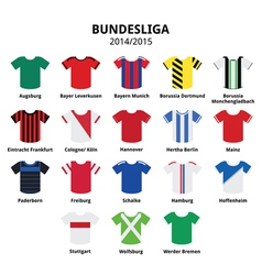 Bundesliga jerseys 2014 - 2015German football vector image