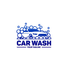 car washing logo template vector image