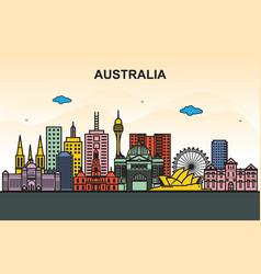 city in australia cityscape skyline tour vector image