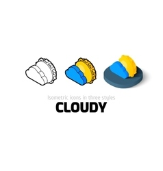 Cloudy icon in different style vector image