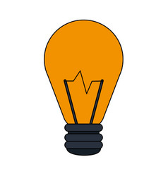 Color image cartoon halogen light bulb vector