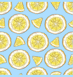colorful lemon fruit and citrus ice cream seamless vector image