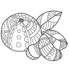 Coloring pages for adultshand made sketch vector