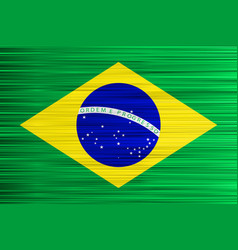 concept brazilian flag green yellow and blue vector image
