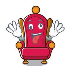 Crazy king throne mascot cartoon vector
