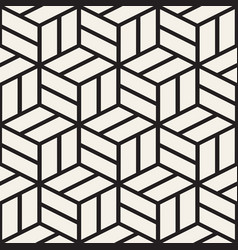 cubic grid tiling endless stylish texture vector image vector image