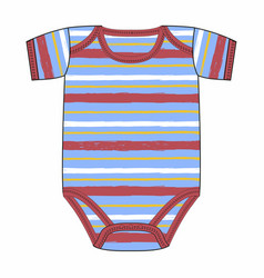 cute clothes for newborn boy vector image