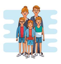 cute family cartoon vector image