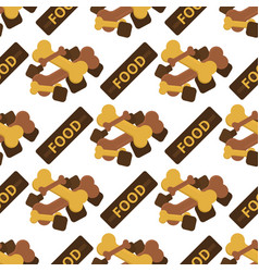 dog chew bone care biscuit animal food puppy vector image