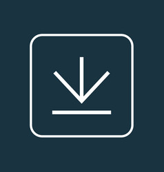 downloading outline symbol premium quality vector image