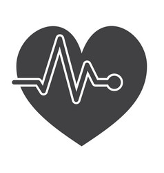 ecg or electrocardiography icon vector image