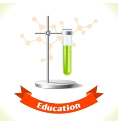 Education icon test tube vector image