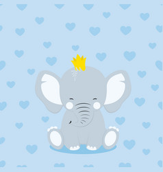 elephant in crown vector image