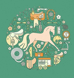 Equine Concept vector