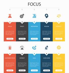 Focus infographic 10 option ui designtarget vector