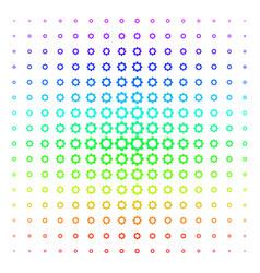 gear shape halftone spectral pattern vector image