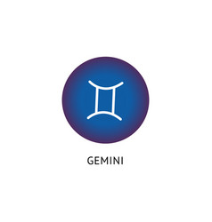 gemini zodiac star sign - blue isolated icon on vector image