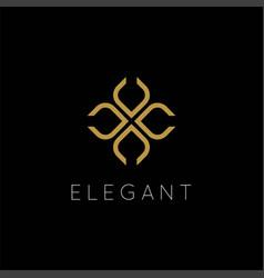 geometric simple minimalist elegant luxury beauty vector image