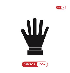 glove icon vector image