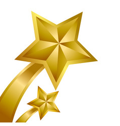 Gold star winner vector