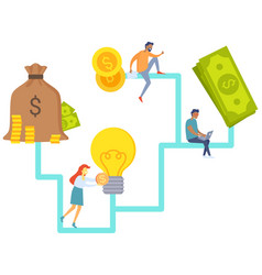 great idea business plan and cooperation in deal vector image