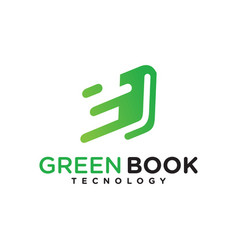 green book technology logo vector image