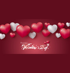happy valentines day design hearts vector image