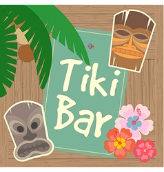 Hawaii Tiki Bar Poster vector