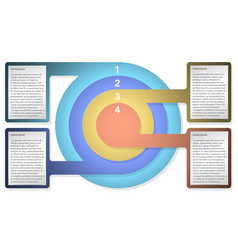 Infographic diagram template with concentric vector