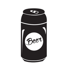 Isolated beer can silhouette vector