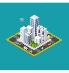 Isometric urban city vector