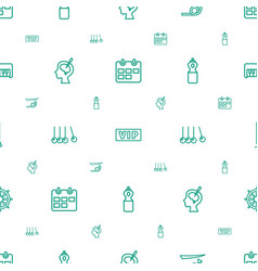 Long icons pattern seamless white background vector