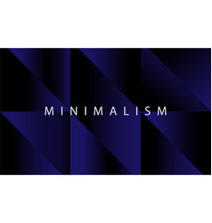 luxury dark blue geometric background design vector image
