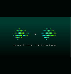 machine learning logo artificial intelligence vector image