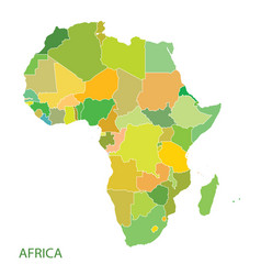 Map africa continent vector