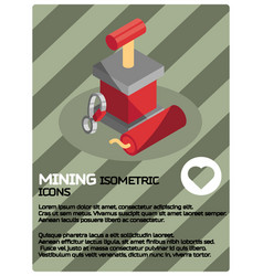 Mining color isometric poster vector
