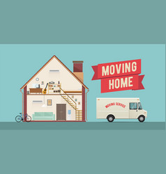 moving home flat styled vector image