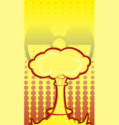 Nuclear explosion in comic style danger using vector