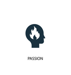 passion icon simple element passion vector image
