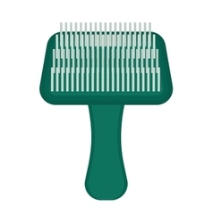 pet brush grooming animal hair wool comb handle vector image