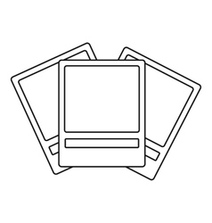 Photos icon outline style vector image